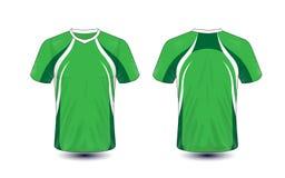 Plantilla verde y blanca del diseño de la camiseta del e-deporte de la disposición ilustración del vector