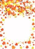 Plantilla vertical de la bandera del otoño con el espacio en blanco para el texto Cartel estacional de la caída con caer roja, an Fotografía de archivo libre de regalías
