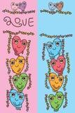 Plantilla vertical de la mascota del amor linda stock de ilustración