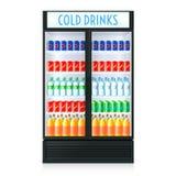 Plantilla vertical del refrigerador libre illustration