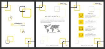 Plantilla vertical del vector de la presentación del equipo del márketing stock de ilustración