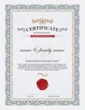 Plantilla y elemento del certificado stock de ilustración