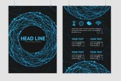 Plantillas abstractas del diseño del folleto de la esfera del vector Fotografía de archivo