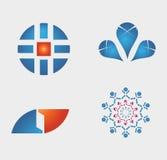 Plantillas abstractas del logotipo ilustración del vector