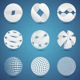 Esferas blancas 3d stock de ilustración