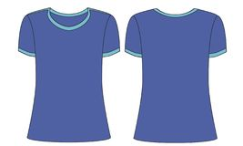 Plantillas azules de la camiseta de los deportes para los hombres o las mujeres stock de ilustración