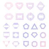 Plantillas coloridas del logotipo del vector fijadas Imagenes de archivo