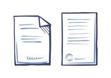 Plantillas comerciales fijadas de la documentación, Web App stock de ilustración