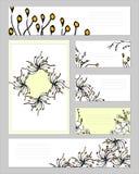 Plantillas con los elementos abstractos para calificar y la identidad ilustración del vector
