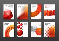 Plantillas corporativas del diseño de la cubierta del folleto fijadas foto de archivo libre de regalías