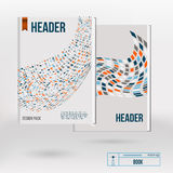 Plantillas creativas del diseño de la cubierta del folleto del vector Imagen de archivo libre de regalías