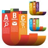 Plantillas de Infographic Foto de archivo libre de regalías