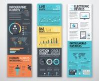 Plantillas de Infographic en orden bien de manera operacional dispuesta ilustración del vector