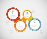Plantillas de Infographic para el ejemplo del vector del negocio. Fotos de archivo libres de regalías