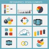 Plantillas de Infographic para el ejemplo del vector del negocio. Imágenes de archivo libres de regalías