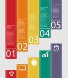Plantillas de Infographic para el ejemplo del vector del negocio. Foto de archivo