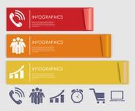 Plantillas de Infographic para el ejemplo del vector del negocio. Fotos de archivo