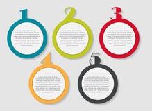 Plantillas de Infographic para el vector del negocio Fotografía de archivo