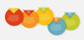 Plantillas de Infographic para el vector del negocio Foto de archivo libre de regalías
