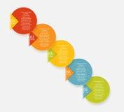 Plantillas de Infographic para el vector del negocio Fotografía de archivo libre de regalías