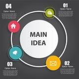 Plantillas de Infographic para el vector del negocio Imagenes de archivo