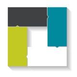Plantillas de Infographic para el vector del negocio Imagen de archivo