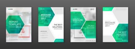 Plantillas de la cubierta médicas del folleto fijadas imagen de archivo libre de regalías