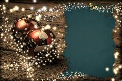 Plantillas de la Navidad Foto de archivo