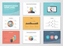 Plantillas de la presentación del negocio y elementos del vector del infographics libre illustration
