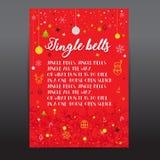 Plantillas de la tarjeta de Navidad Carteles de la Navidad fijados Ilustración del vector Plantilla para Scrapbooking de saludo,  Fotografía de archivo libre de regalías