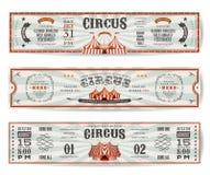 Plantillas de las banderas del sitio web del circo del vintage Fotos de archivo libres de regalías