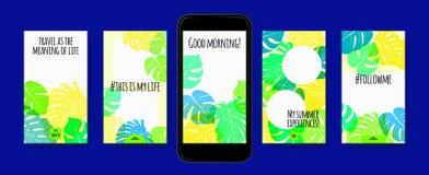 Plantillas de las historias para el medios diseño social ilustración del vector