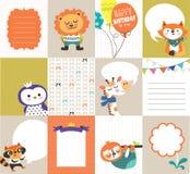Plantillas de las tarjetas de felicitación ilustración del vector