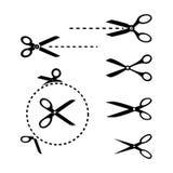 Plantillas de las tijeras Imágenes de archivo libres de regalías