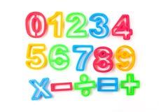 Plantillas de los números Imagen de archivo