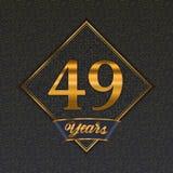 Plantillas de oro del número 49 stock de ilustración