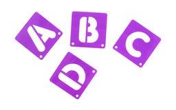 Plantillas del alfabeto de la plantilla del tablero del cartel Fotografía de archivo libre de regalías
