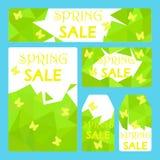 Plantillas del aviador del vale de la venta de la primavera Fotografía de archivo libre de regalías