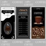 Plantillas del café imagen de archivo