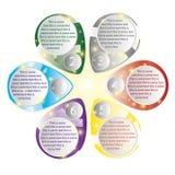 Plantillas del color para el texto de diversos colores Fotos de archivo