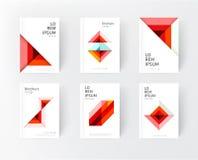 Plantillas del diseño de la cubierta Imagen de archivo
