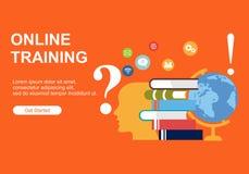 Plantillas del diseño de la página web para el entrenamiento en línea, educación Conceptos modernos del ejemplo del vector para l ilustración del vector