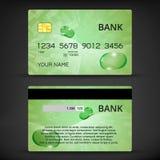 Plantillas del diseño de las tarjetas de crédito Imágenes de archivo libres de regalías