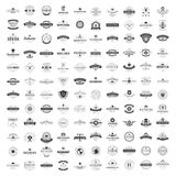 Plantillas del diseño de los logotipos del vintage fijadas Colección de los elementos de los logotipos del vector Fotografía de archivo