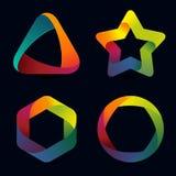 Plantillas del logotipo del arco iris del vector Imagen de archivo libre de regalías