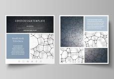 Plantillas del negocio para el folleto cuadrado del diseño, aviador Cubierta del prospecto, disposición del vector Modelo de la q libre illustration