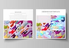 Plantillas del negocio para el folleto cuadrado del diseño, revista, aviador Cubierta del prospecto, disposición abstracta del ve stock de ilustración