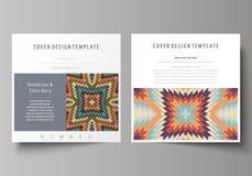 Plantillas del negocio para el folleto cuadrado del diseño, revista, aviador, folleto Cubierta del prospecto, disposición abstrac Imagenes de archivo