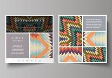 Plantillas del negocio para el folleto cuadrado del diseño, revista, aviador, folleto Cubierta del prospecto, disposición abstrac Foto de archivo libre de regalías