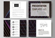 Plantillas del negocio para las diapositivas de la presentación Disposiciones del vector en estilo plano Fondo poligonal abstract Foto de archivo